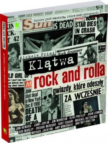Okładka książki Klątwa rock and rolla. Gwiazdy, które odeszły za wcześnie