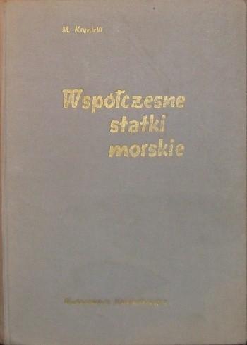 Okładka książki Współczesne statki morskie
