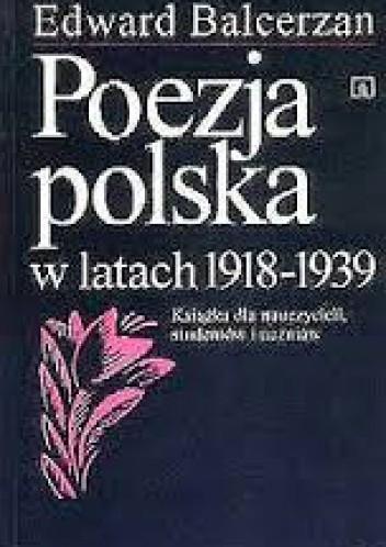 Okładka książki Poezja polska w latach 1918-1939