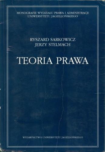Okładka książki Teoria prawa