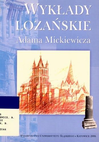 Okładka książki Wykłady lozańskie Adama Mickiewicza