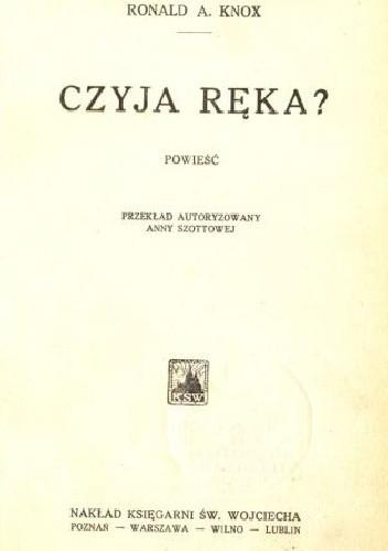 Okładka książki Czyja ręka?