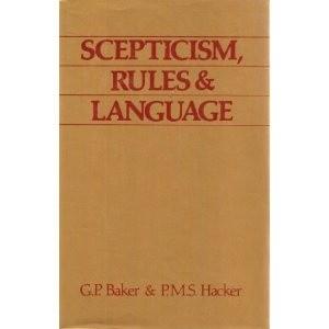 Okładka książki Scepticism, Rules and Language