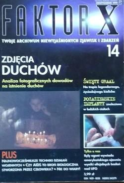 Okładka książki Faktor X Twoje archiwum niewyjaśnionych zjawisk i zdarzeń, nr 14