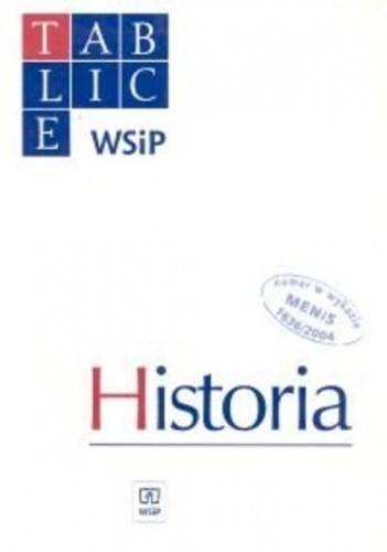 Okładka książki Tablice WSiP Historia