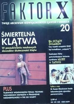 Okładka książki Faktor X Twoje archiwum niewyjaśnionych zjawisk i zdarzeń, nr 20