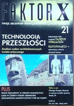Okładka książki Faktor X Twoje archiwum niewyjaśnionych zjawisk i zdarzeń, nr 21