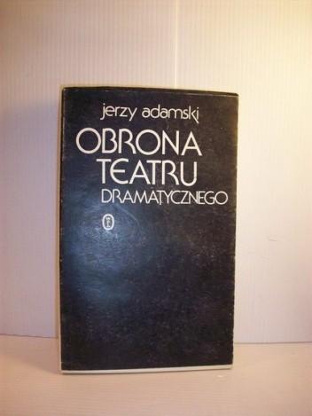 Okładka książki Obrona teatru dramatycznego