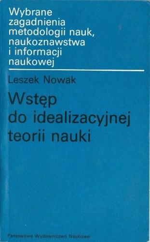Okładka książki Wstęp do idealizacyjnej teorii nauki