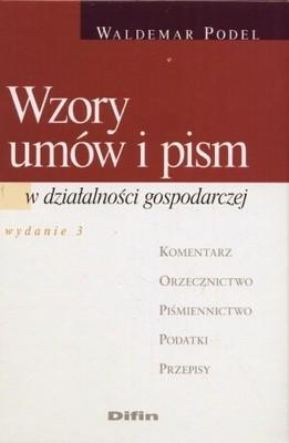Okładka książki Wzory umów i pism w działalności gospodarczej wydanie 3