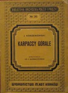 Okładka książki Karpaccy górale
