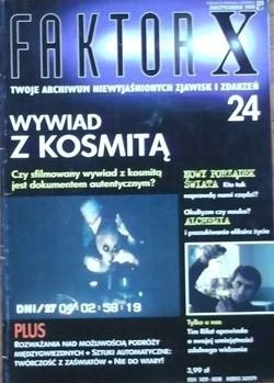 Okładka książki Faktor X Twoje archiwum niewyjaśnionych zjawisk i zdarzeń, nr 24