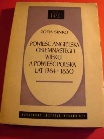 Okładka książki Powieść angielska XVIII wieku a powieść polska lat 1764-1830