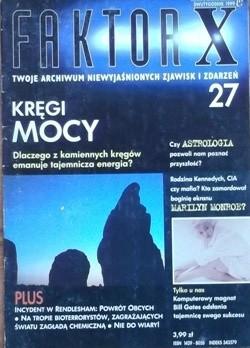 Okładka książki Faktor X Twoje archiwum niewyjaśnionych zjawisk i zdarzeń, nr 27