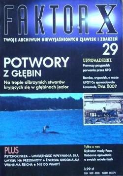 Okładka książki Faktor X Twoje archiwum niewyjaśnionych zjawisk i zdarzeń, nr 29