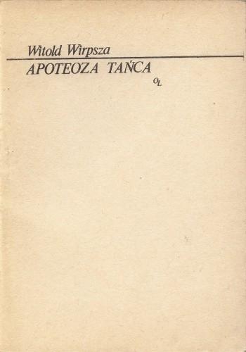 Okładka książki Apoteoza tańca