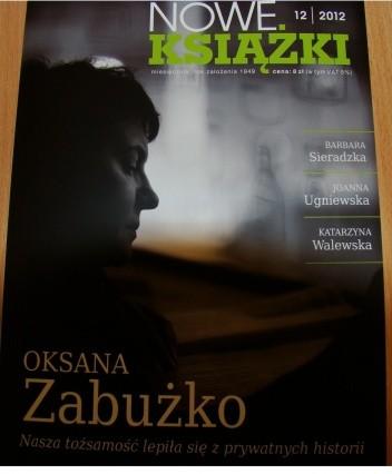 Okładka książki Nowe książki, nr 12/2012