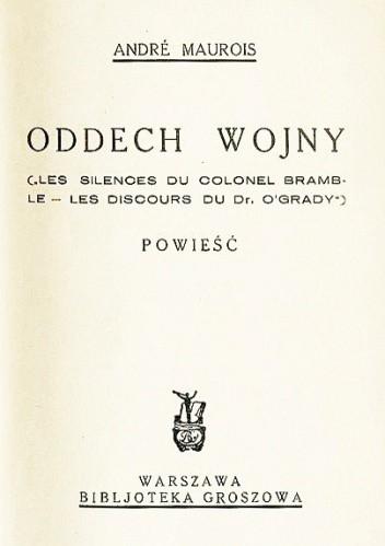 Okładka książki Oddech wojny