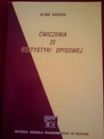 Okładka książki Ćwiczenia ze statystyki opisowej