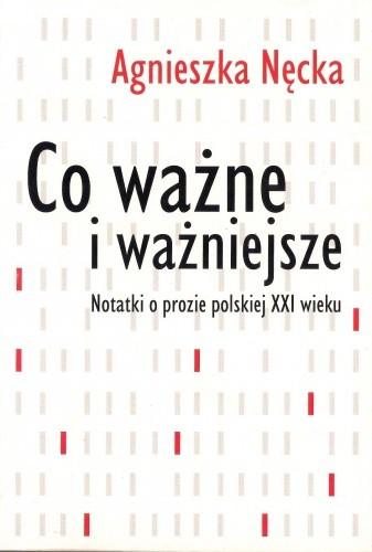 Okładka książki Co ważne i ważniejsze. Notatki o prozie polskiej XXI wieku