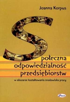 Okładka książki Społeczna odpowiedzialność przedsiębiorstw