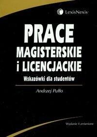 Okładka książki Prace magisterskie i licencjackie. Wskazówki dla studentów