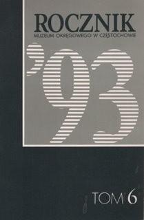 Okładka książki Rocznik Muzeum Okręgowego w Częstochowie, tom 6
