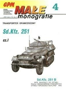 Okładka książki Transporter opancerzony Sd.Kfz. 251. Część I.