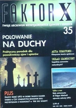 Okładka książki Faktor X Twoje archiwum niewyjaśnionych zjawisk i zdarzeń, nr 35
