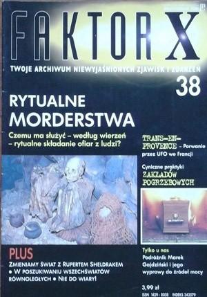 Okładka książki Faktor X Twoje archiwum niewyjaśnionych zjawisk i zdarzeń, nr 38