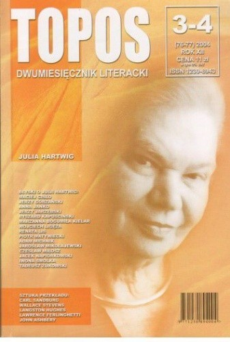 Okładka książki Topos, nr 3-4 (76-77) / 2004