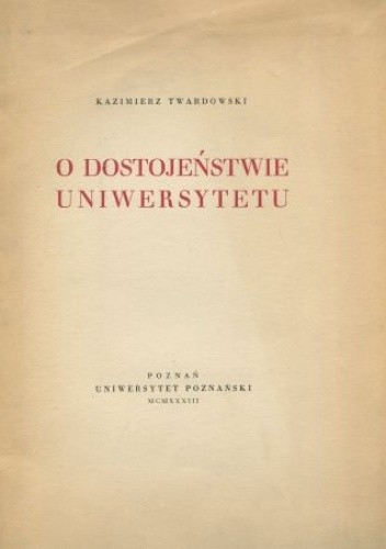 Okładka książki O dostojeństwie uniwersytetu