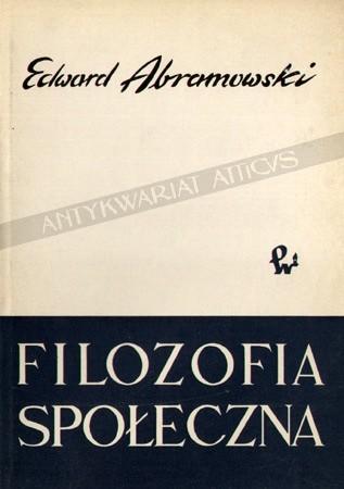 Okładka książki Filozofia społeczna