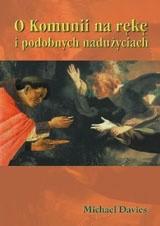 Okładka książki O Komunii na rękę i podobnych nadużyciach