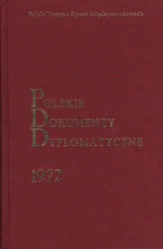 Okładka książki Polskie Dokumenty Dyplomatyczne 1972