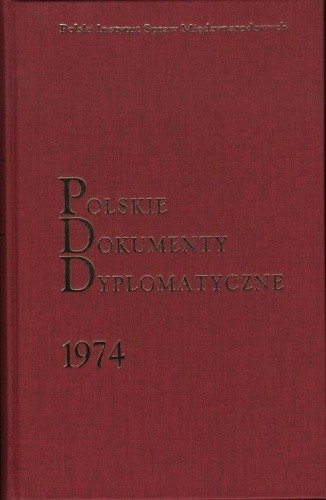 Okładka książki Polskie Dokumenty Dyplomatyczne 1974