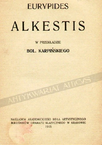 Okładka książki Alkestis