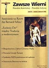Okładka książki Zawsze wierni, marzec-kwiecień 1998