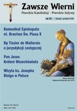 Okładka książki Zawsze wierni, listopad-grudzień 1998
