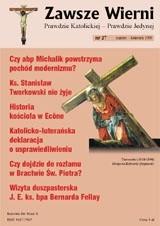 Okładka książki Zawsze wierni, marzec-kwiecień 1999