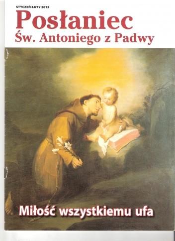 Okładka książki Posłaniec św. Antoniego z Padwy, styczeń-luty 2013