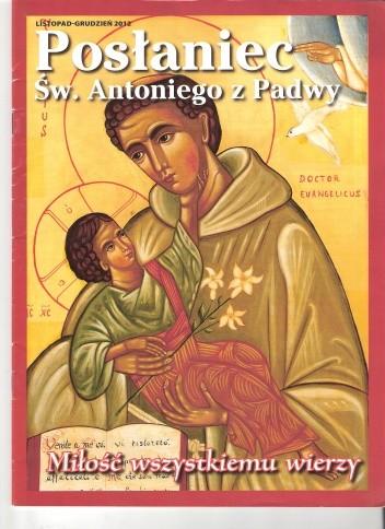 Okładka książki Posłaniec św. Antoniego z Padwy, listopad-grudzień 2012