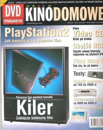 Okładka książki Kino domowe. DVD magazyn, kwiecień 2000