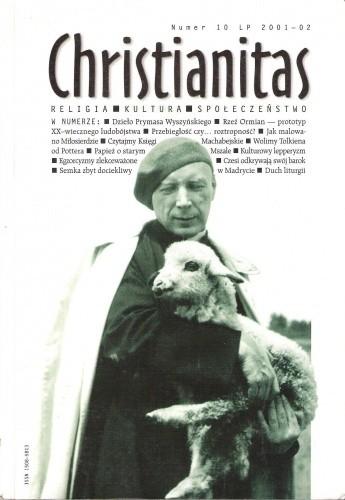 Okładka książki Christianitas, numer 10