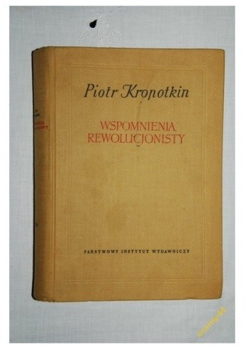 Okładka książki Wspomnienia rewolucjonisty