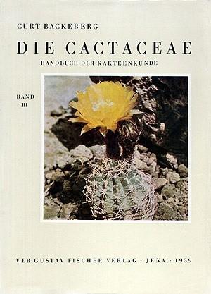Okładka książki Die Cactaceae Handbuch der Kakteenkunde band 3