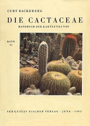 Okładka książki Die Cactaceae Handbuch der Kakteenkunde band 6