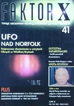 Okładka książki Faktor X Twoje archiwum niewyjaśnionych zjawisk i zdarzeń nr 41