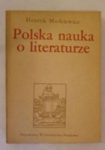 Okładka książki Polska nauka o literaturze