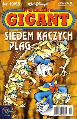 Okładka książki Gigant 10/98: Siedem kaczych plag